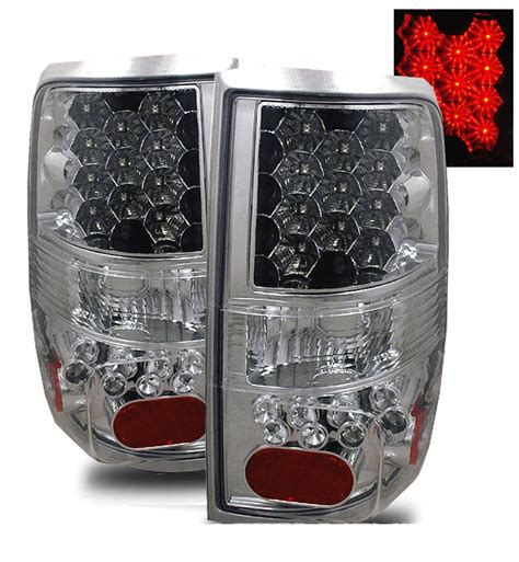2004 ford f150 tail lights 2004 2008 ford f150 f 150 euro style led tail lights chrome