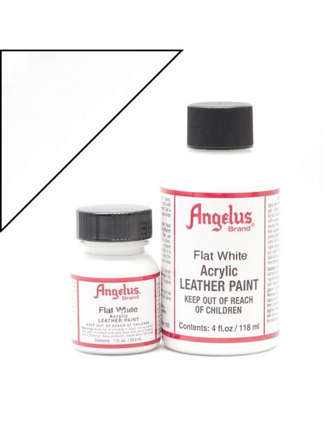 angelus white paint angelus dyes paint flat white matte 1oz leather