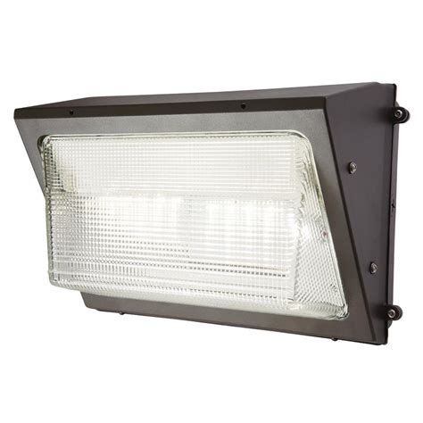 Lem Wallpac halo bronze outdoor integrated led wall pack and area security light wp2547lh the home depot