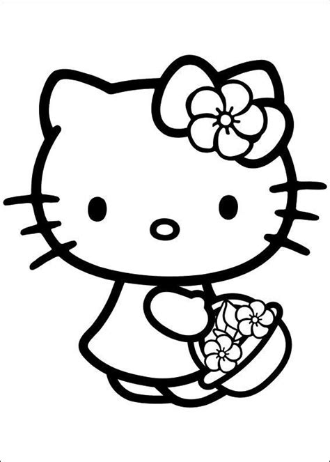 hello kitty soccer coloring pages hello kitty carry the cage with flowers hello kitty