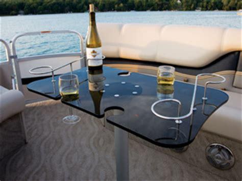 tables for pontoon boats furniture avalon pontoon boats