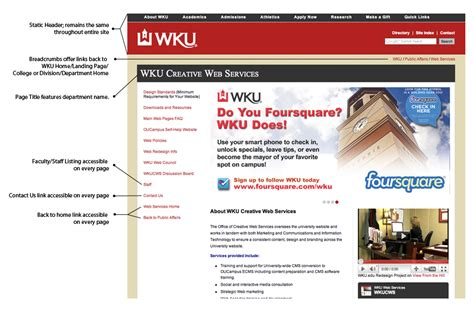 static page template wku website design standards and requirements western