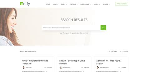 bootstrap search results template image collections
