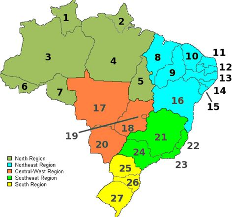 map of brazil states images and places pictures and info brazil map states