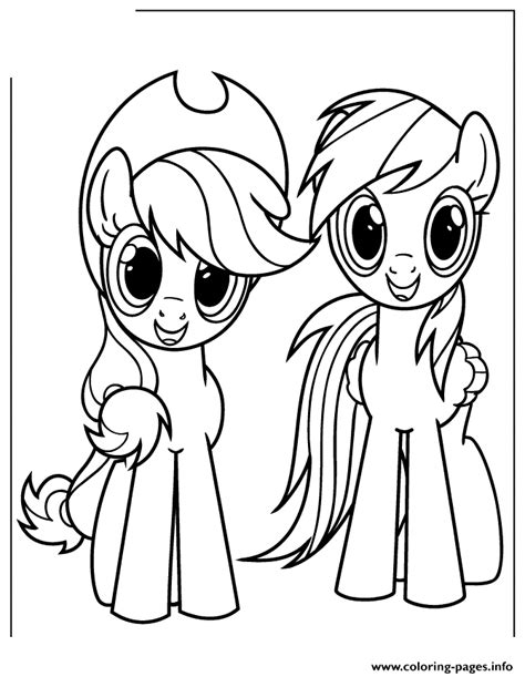Applejack And Rainbow Dash Coloring Pages Printable Rainbow Dash Coloring Pages To Print