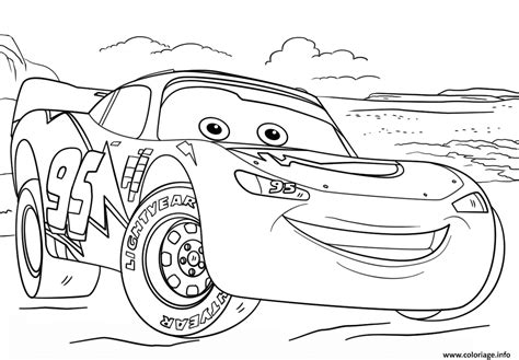 Cars 3 Sketches by Coloriage Lightning Mcqueen From Cars 3 2 Disney Dessin