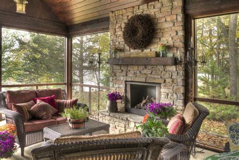Screened In Porch With Fireplace by Screened In Porch With Fireplace Garden