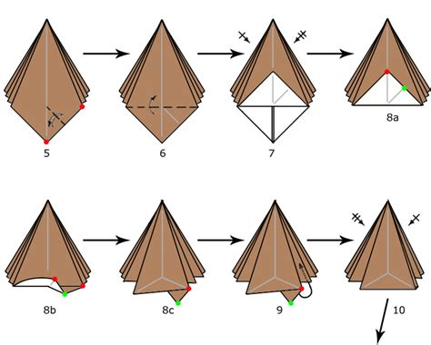 how to make an origami tree 28 images pyramid tree