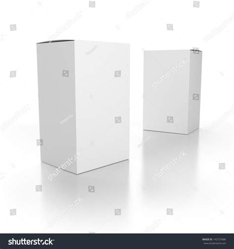 render template blank paper boxes composition template render stock