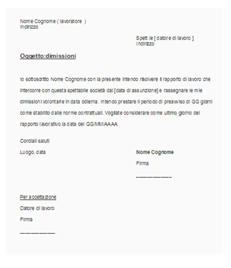 lettere di licenziamento modelli preavviso di licenziamento e dimissioni autos weblog