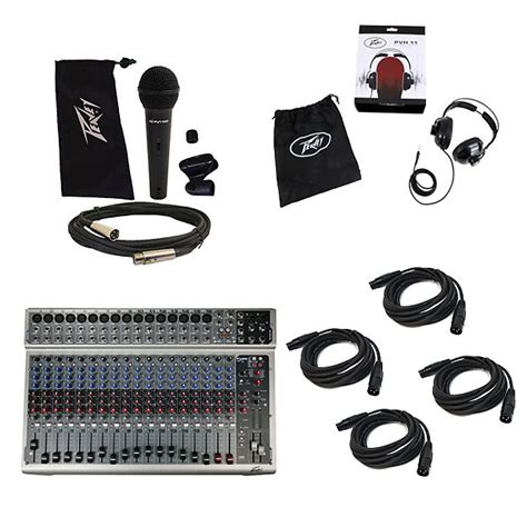 Mixer Peavey Pv 20 Usb 20 Channel Original peavey pv20 usb pro audio dj 20 channel dsp effects mixer mic reverb