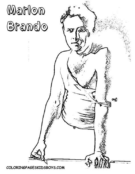 hollywood star coloring page movie star coloring page brando bogart elvis heston