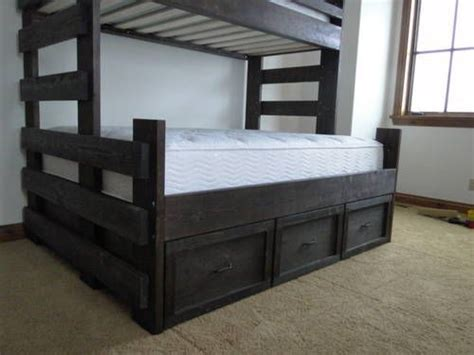 queen trundle beds twin over queen bunk bed with trundle woodworking