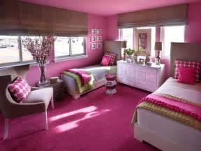 Pink Bedroom Ideas by Shared Girls Bedroom Framing Pink Headboards