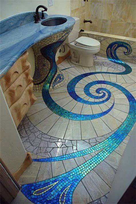 mosaic bathroom floor tile ideas unique and amazing mosaic bathroom design home design