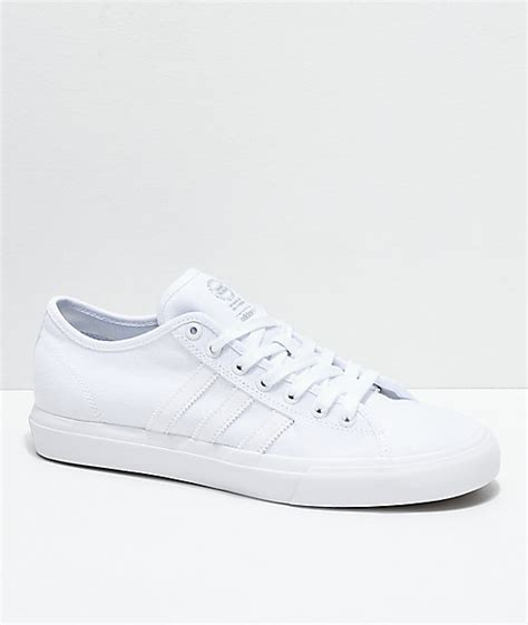 adidas matchcourt rx all white canvas shoes zumiez
