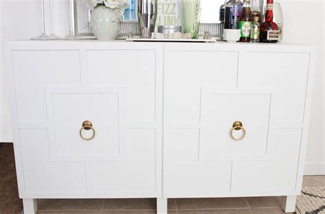 besta sideboard hack diy ikea hack besta cabinet two ways glam latte