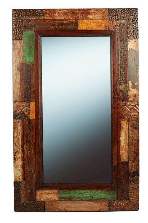 rustic mirrors hondo creek reclaimed rustic mirror mexican 23x37