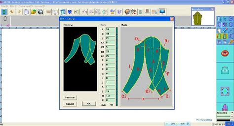 pattern grading service online pattern design and grading cad system no artex china