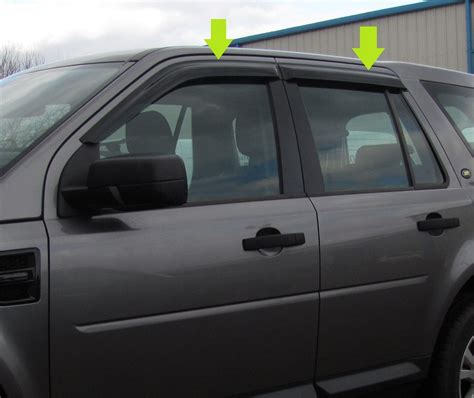 window rain deflectors house window wind rain deflector tinted smoked 4 door kit land rover freelander 2 ebay