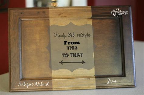 antique walnut gel stained card let high style restyle update your cabinets before after of an oak cabinet stained with