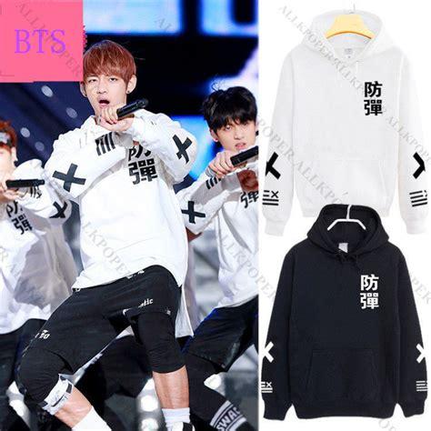 Hoodie Kpop Bts Wings Hitam kpop bts cap hoodie sweater bangtan boys jung kook jin v