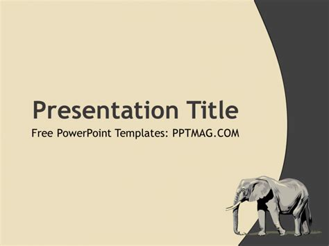 Free Elephant Powerpoint Template Pptmag Elephant Powerpoint Template