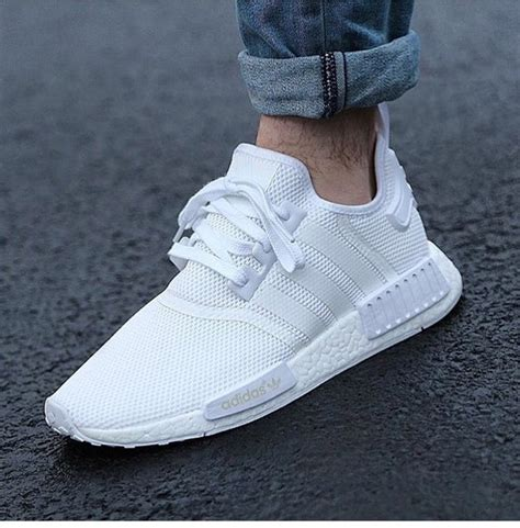 Single Duvet And Pillow Adidas Originals Nmd R1 Runner Primeknit Shoes All White
