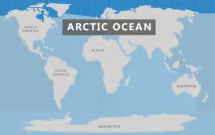 Where Is The Arctic Ocean Located On A World Map by Arctic Ocean The 7 Continents Of The World