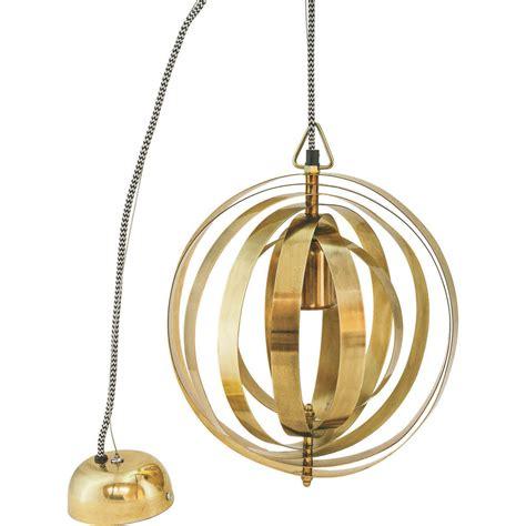 brass pendant light brass globe pendant light by miafleur notonthehighstreet