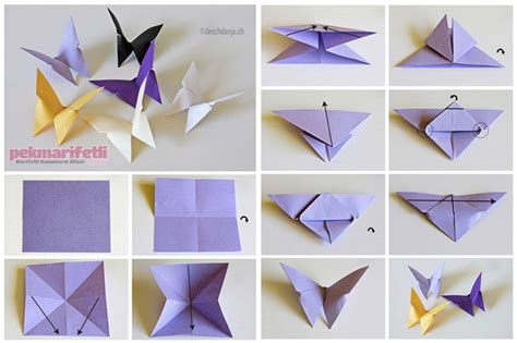 membuat origami simple origami tekniğiyle kağıttan kelebek yapımı el yapımı