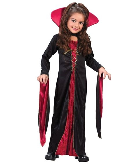 Victorian Vampiress Kids Halloween Costume   Vampire Costumes