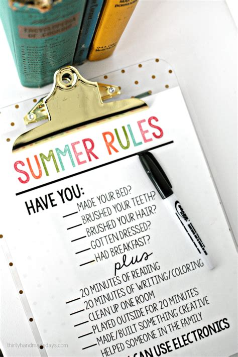 Thirty Handmade Days - printable summer thirty handmade days