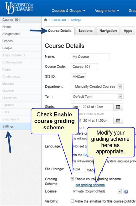 Credit Score Letter Grade Understanding The Canvas Grades Part 2 Enabling Letter Grades Canvas Ud