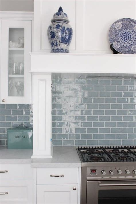 light blue kitchen backsplash best 20 blue subway tile ideas on blue