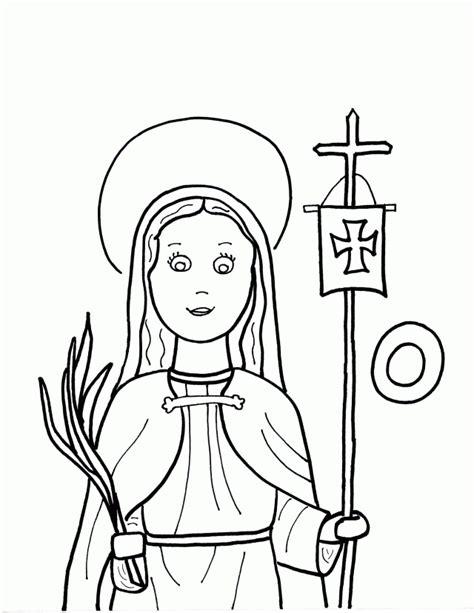 o is for st odilia saints to color 240341 st bernadette