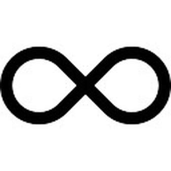 imagenes de infinitos blanco y negro s 237 mbolo infinito ou link arredondado bot 227 o circular