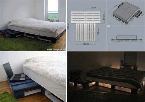 Pallet Platform Bed Diy Pallet Platform Bed Pallet Furniture Beds Pallets And Platform