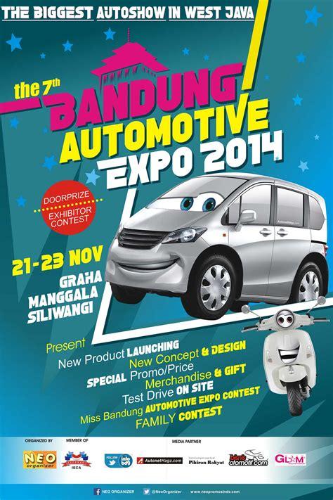 layout pameran mobil desain poster bandung automotive expo 2014 indonesia