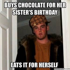 Memes For Her - buys chocolate for her sister s birthday