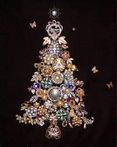costume jewelry christmas trees and vintage art on pinterest