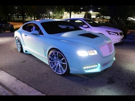 bentley custom paint rapper yo gotti s bentley ridin 24 s