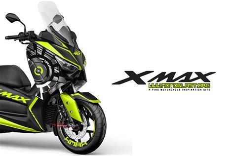 modifikasi striping yamaha xmax dark silver livery sun