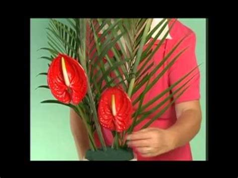 flower design youtube flower arranging with anya tropical arrangement youtube