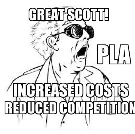 Great Scott Meme - great scott projects bid with and without pla mandates