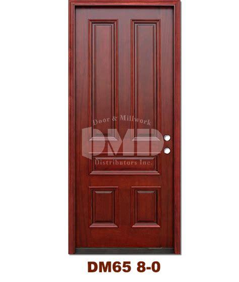 5 Panel Exterior Door Dm65 5 Panel Contemporary Exterior Wood Mahogany Door 8 0 Door And Millwork Distributors Inc