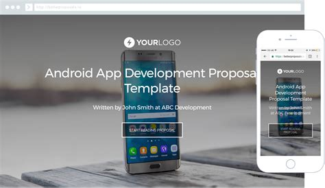 templates for android app development android mobile app development proposal template better