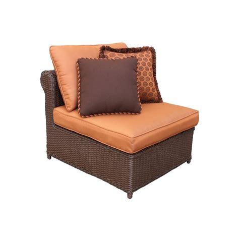 armless patio chairs hton bay cibola armless patio club chair with nutmeg