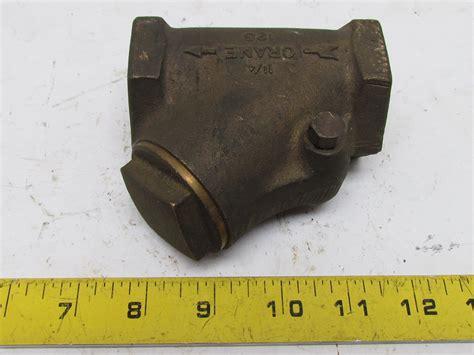 crane swing check valve crane 1 1 4 quot npt brass y swing check valve pipe fitting