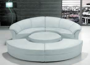 Circular Sectional Sofa Stylish White Leather Circular Sectional Sofa Modern Living Room Other Metro By Eurolux